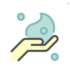 cleaner foam and hand washing icon design 64x64 vector image