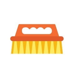 Cleaning brush icon work equipment vector