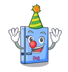 Clown office binder file isolated on cartoon vector