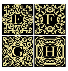 Collection of concepts for luxury monograms or vector