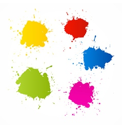 Colorful Blots Icons vector image