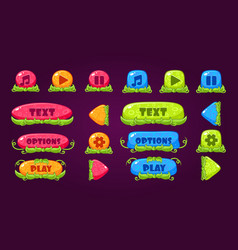 Colorful set of various buttons for computer game vector