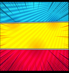Comic bright horizontal banners vector