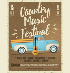 country music festival flyer vector image