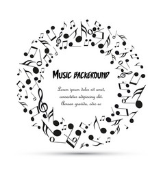 decoration musical notes vector image