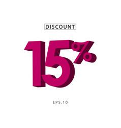 discount 15 template design vector image