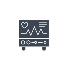 Electrocardiogram related glyph icon vector