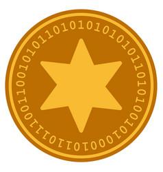 fireworks star digital coin vector image
