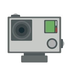 Flat action camera icon vector