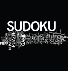 free sudoku online text background word cloud vector image