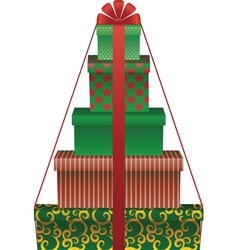 gift tree vector image