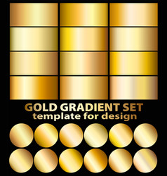 gold foil texture background set realistic vector image
