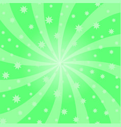 green cartoon swirl design vortex starburst vector image
