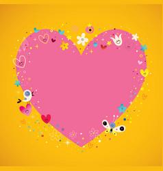 Heart frame banner vector