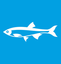 herring fish icon white vector image