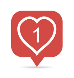 icon like the heart figure 1 symbol like vector image