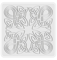 Icon with celtic art and ethnic ornaments vector