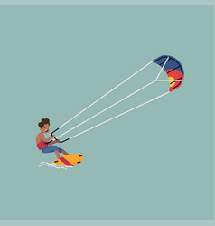 kite surfing design element vector image