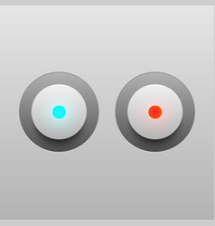 Led light buttons on gray background vector