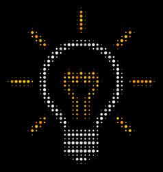 Light bulb halftone icon vector
