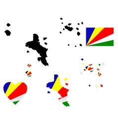 Map of Seychelles vector