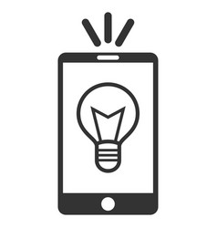 Mobile lamp light flat icon vector