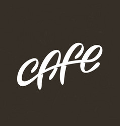 Modern professional sign logo cafe vector