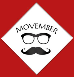 movember advertisement with text and graphic vector image