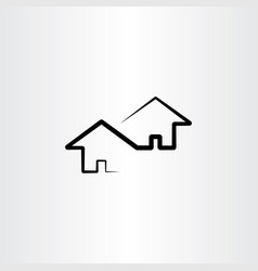 Neighborhood house design element vector