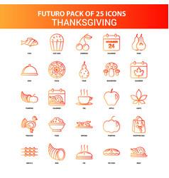 Orange futuro 25 thanksgiving icon set vector
