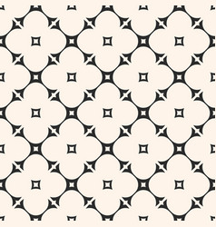 ornamental geometric seamless floral pattern vector image