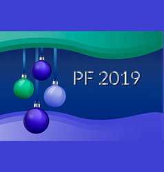 Pf 2019 christmas greeting card design with vector