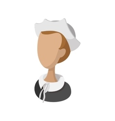 Pilgrim girl cartoon icon vector