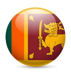 Round glossy icon of sri lanka vector