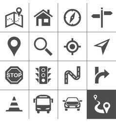 Route planning and transportation icons vector image