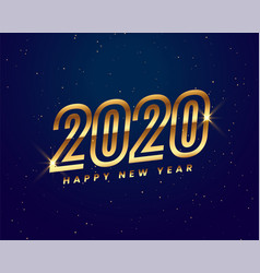 shiny golden 2020 new year background creative vector image