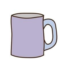 silhouette light purple with porcelain mug vector image