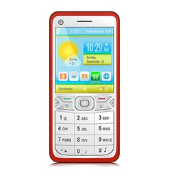 Smartphone with physical keyboard vector image