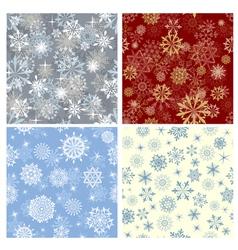 snowflakes seamless set vector image