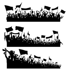 Sport supporters silhouettes vector