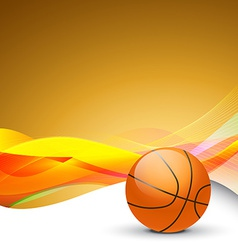 stylish background of basketball vector image