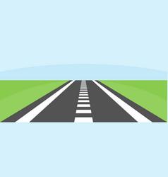 summer asphalt skyline road vector image