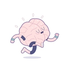 Train your brain running vector image