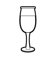 Transparent wine glass icon vector