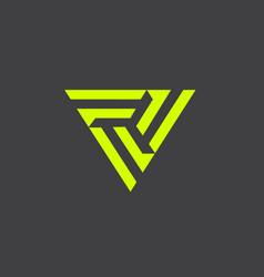 triple f symbol vector image