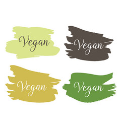 vegan bio ecology organic logo and icon label vector image