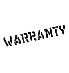 Warranty stamp rubber grunge vector