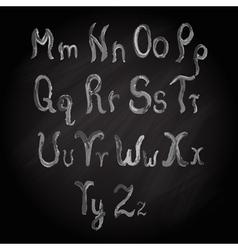 Watercolor alphabet vector image