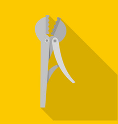 Wire cutter icon flat style vector