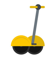 Yellow two wheeled electric vehicle icon isolated vector